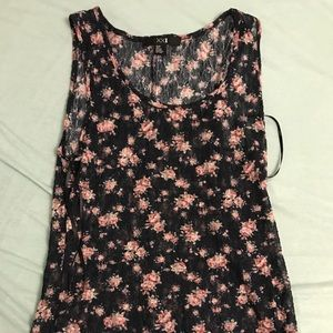 Lacy floral sheer tank top (forever 21, size S)